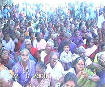 Just one part of female devotees in the Temple Kumbabishegam Function