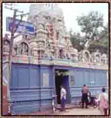 The external view of Sangubaani vinayakar Temple